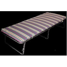 """Кровать-тумба """"Верона"""" на ламелях (каркас черный ткань разноцветная)"""
