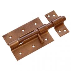 Засов дверной ЗД-100 коричневый Домарт
