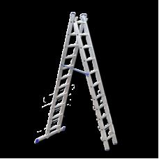 Лестница-Стремянка 2 секции по 11 ступеней (max 5,2 м)
