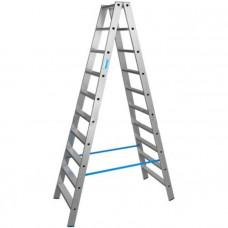 Лестница-Стремянка 2 секции по 10 ступеней (max 4,78 м)