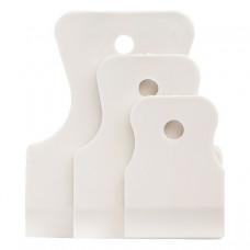 Набор  шпателей 40-60-80мм белая резина 3шт.СИБРТЕХ