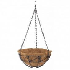 Подвесное кашпо с орнаментом 25см с кокосовой корзиной PALISAD 69003