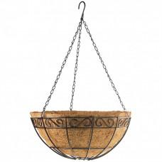 Подвесное кашпо с орнаментом 30см с кокосовой корзиной PALISAD 69004