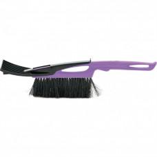 Щетка-сметка для снега со скребком 400мм фиолетовая SPARTA  552945