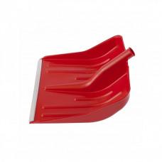 Лопата снеговая 400х420мм красная без черенка пластм. алюмин. окантовка СИБРТЕХ 616175