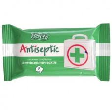 Салфетки влажные AQUAELLE ANTISEPTIC в упаковке 15 шт 210079