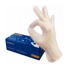 Перчатки виниловые неопудренные размер L упак. 50шт MEDIOK