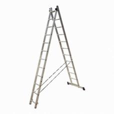 Лестница-Стремянка 2 секции по 12 ступеней (max 5,62 м)