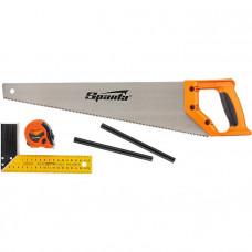Набор  столярный 5 пред. (карандаш-2шт , ножовка 450мм , рулетка , угольник строительный ) SPARTA