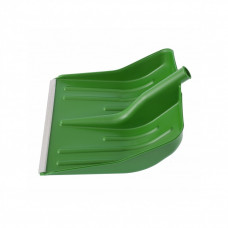 Лопата снеговая 400х420мм зеленая без черенка пластм. алюмин. окантовка СИБРТЕХ 616195
