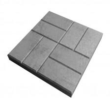 Плитка тротуарная 8 кирпичей 40х40х5 серая