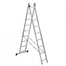 Лестница-Стремянка 2 секции по  9 ступеней (max 4,2 м)