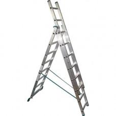 Лестница-Стремянка 3 секции по  8 ступеней (max 4,77 м)