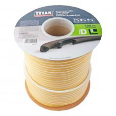 Уплотнитель TYTAN D 9х7,5мм белый бухта 100м (0,5м)