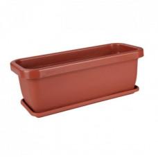 Ящик для цветов пласт. 360х150х125 мм с поддоном АЛЬТЕРНАТИВА М303