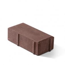 Плитка тротуарная вибропрессованная 100х200х7  БРУСЧАТКА коричневая