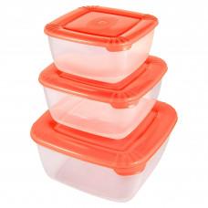 Набор емкостей пласт. для хранения 3 шт. квадрат. 0,46л 0,95л 1,5л POLAR РТ1683