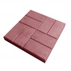 Плитка тротуарная 8 кирпичей 40х40х5 красная