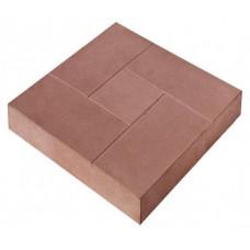 Плитка тротуарная Брусчатка 30х30х3 коричневая