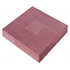 Плитка тротуарная Брусчатка 30х30х3 красная