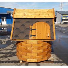 Домик для колодца  В СБОРЕ с воротом