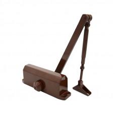 Доводчик с автофиксацией 80-120кг (макс.150кг) коричневый  61304 ШЛОСС