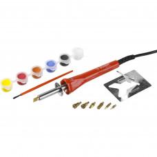 Прибор для выжигания с набором насадок 7шт и красками ЗУБР МАСТЕР 55425