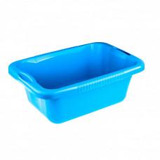 Таз пластмассовый прямоугольный 25л голубой Россия Elfe 92992