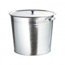 Бак для воды 20л оцинкованный с крышкой 67548