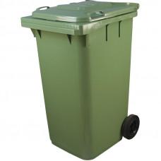 Бак пластмассовый 240л для мусора с 2-мя колесами