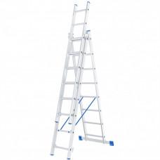 Лестница 3х8  ступеней,алюм.,трехсекционная СИБРТЕХ 97818