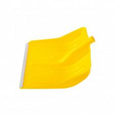 Лопата снеговая 400х420мм желтая без черенка пластм. алюмин. окантовка СИБРТЕХ 61616